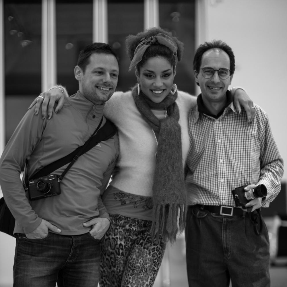 Patrick and David joining singer, actress and model Joy Villa